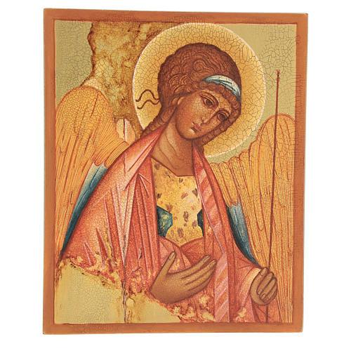 Russian icon, Saint Michael of Rublov 14x10 cm 1