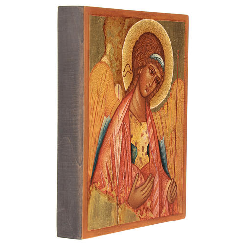 Russian icon, Saint Michael of Rublov 14x10 cm 3