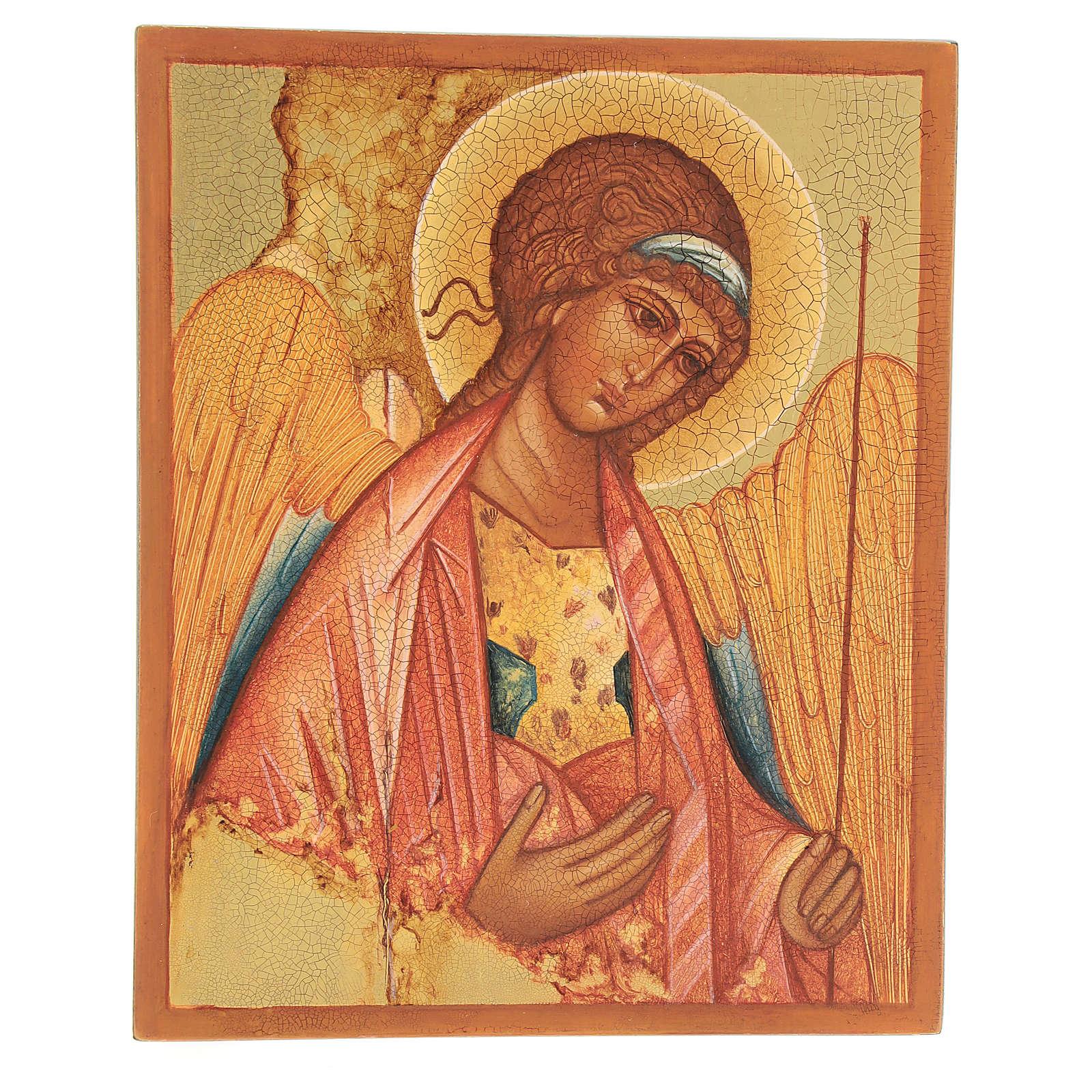 Icona russa San Michele di Rublov 14x10 cm 4