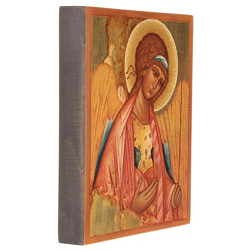Icona russa San Michele di Rublov 14x10 cm 3