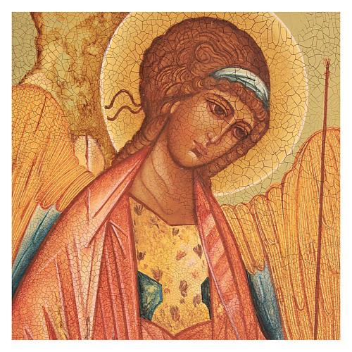 Ikona rosyjska Święty Michał Rublow 14x10 2