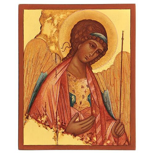 Ikona rosyjska Święty Michał Rublow 14x10 1