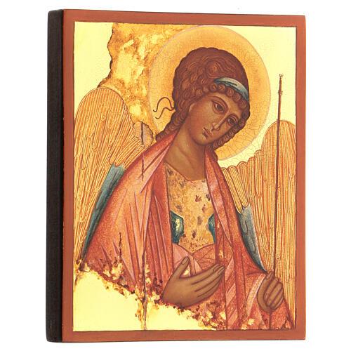 Ikona rosyjska Święty Michał Rublow 14x10 3