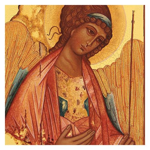 Russian icon, Saint Michael of Rublov 14x10 cm 2