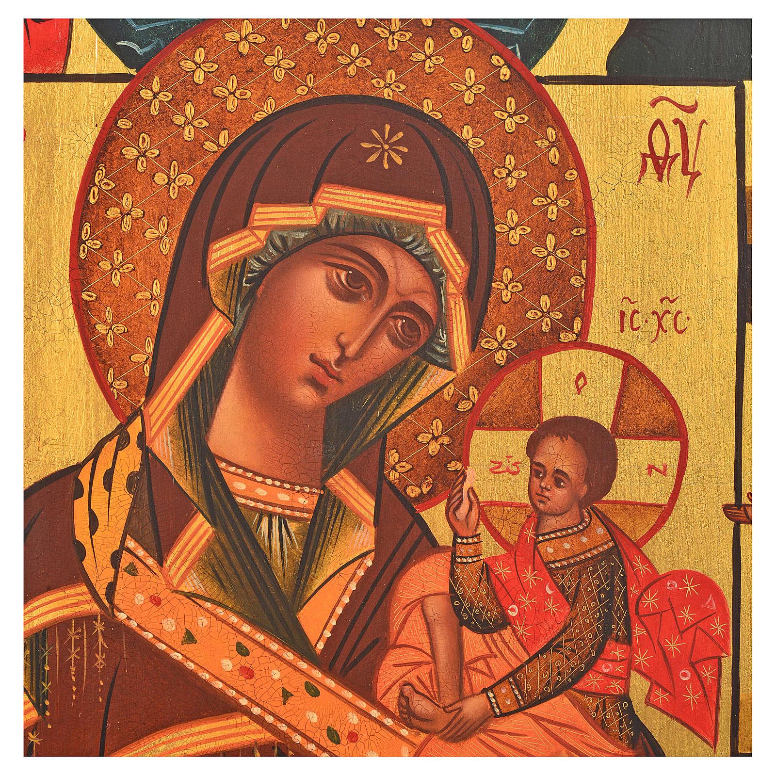 Icona russa dipinta Madonna di Fiodor 36x30 4