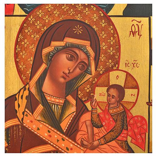 Icona russa dipinta Madonna di Fiodor 36x30 2