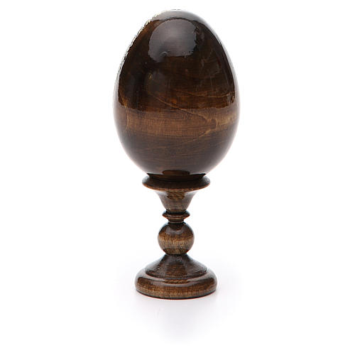 Huevo ruso de madera découpage Pantocrator altura total 13 cm 7