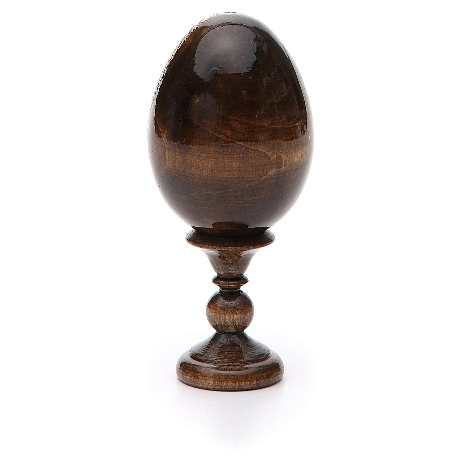 Uovo russo legno découpage Pantocratore h tot. 13 cm 4