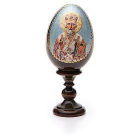 Russian Egg St. Nicholas découpage 13cm s5