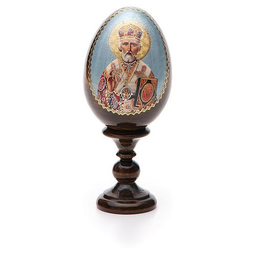 Russian Egg St. Nicholas découpage 13cm 5