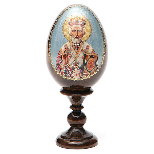 Russian Egg St. Nicholas découpage 13cm 9