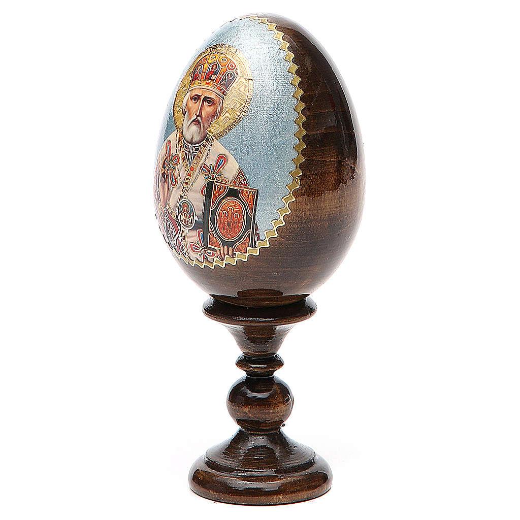 Oeuf russe peint Saint Nicolas h tot. 13 cm 4