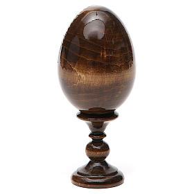 Uovo russo legno découpage San Nicola h tot. 13 cm s11