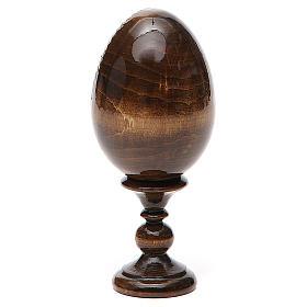 Uovo russo legno découpage San Nicola h tot. 13 cm s3
