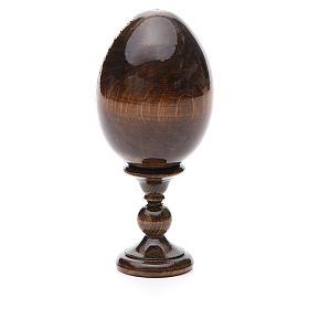 Jajko rosyjskie drewno decoupage Madonna Biała Lilia wys. całk. 13 cm s7