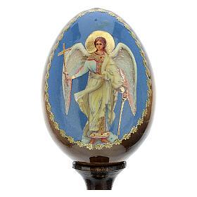 Oeuf russe peint Ange Gardien h tot. 13 cm s2