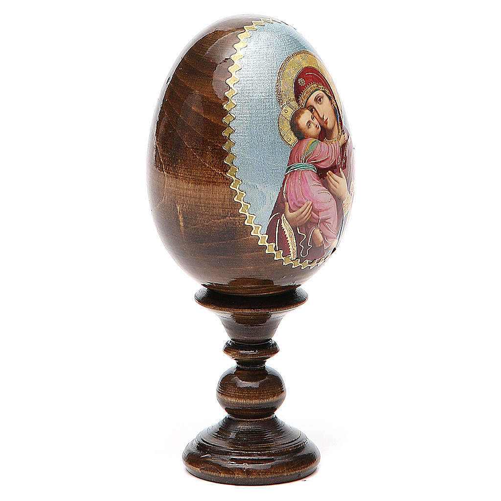 Russian Egg Vladimirskaya découpage 13cm 4