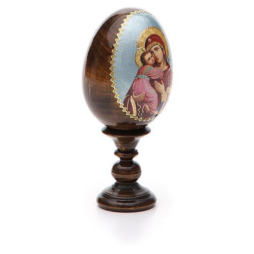 Russian Egg Vladimirskaya découpage 13cm 6