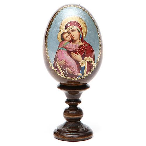 Russian Egg Vladimirskaya découpage 13cm 8