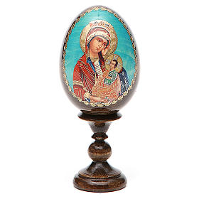 Russian painted eggs: Russian Egg Placate my sadness découpage 13cm