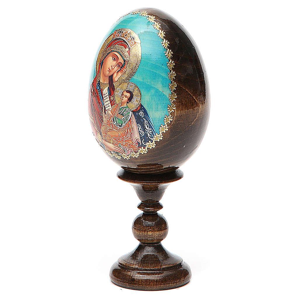 Huevo ruso de madera découpage
