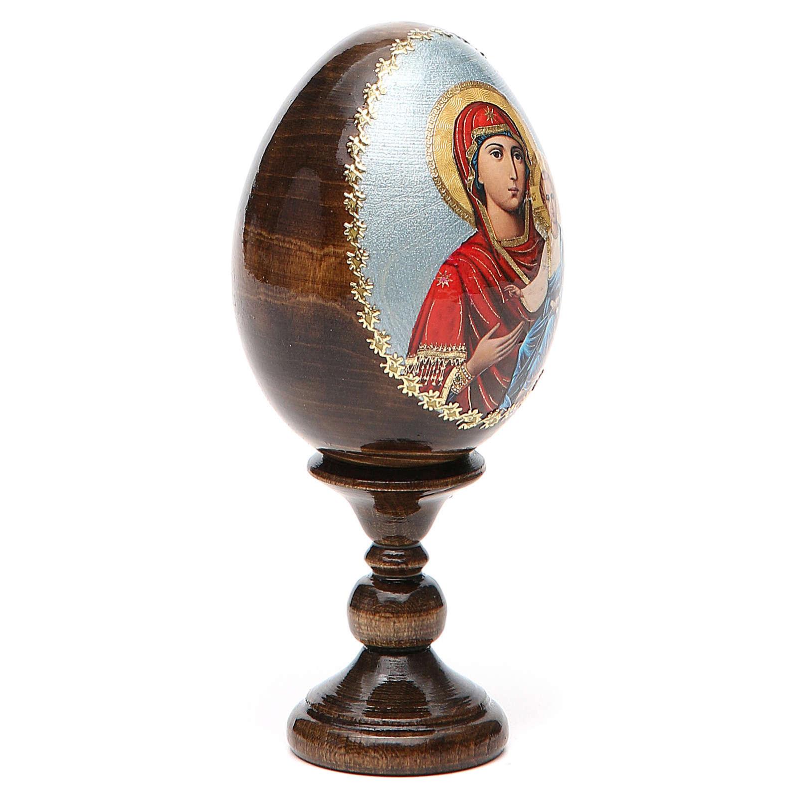 Russian Egg Smolenskaya découpage 13cm 4