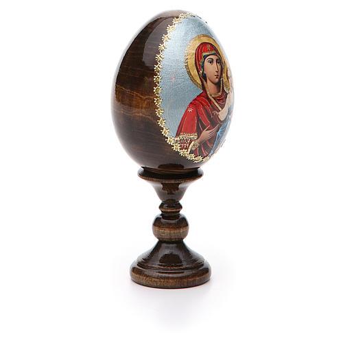 Russian Egg Smolenskaya découpage 13cm 6