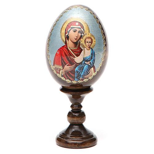 Russian Egg Smolenskaya découpage 13cm 8