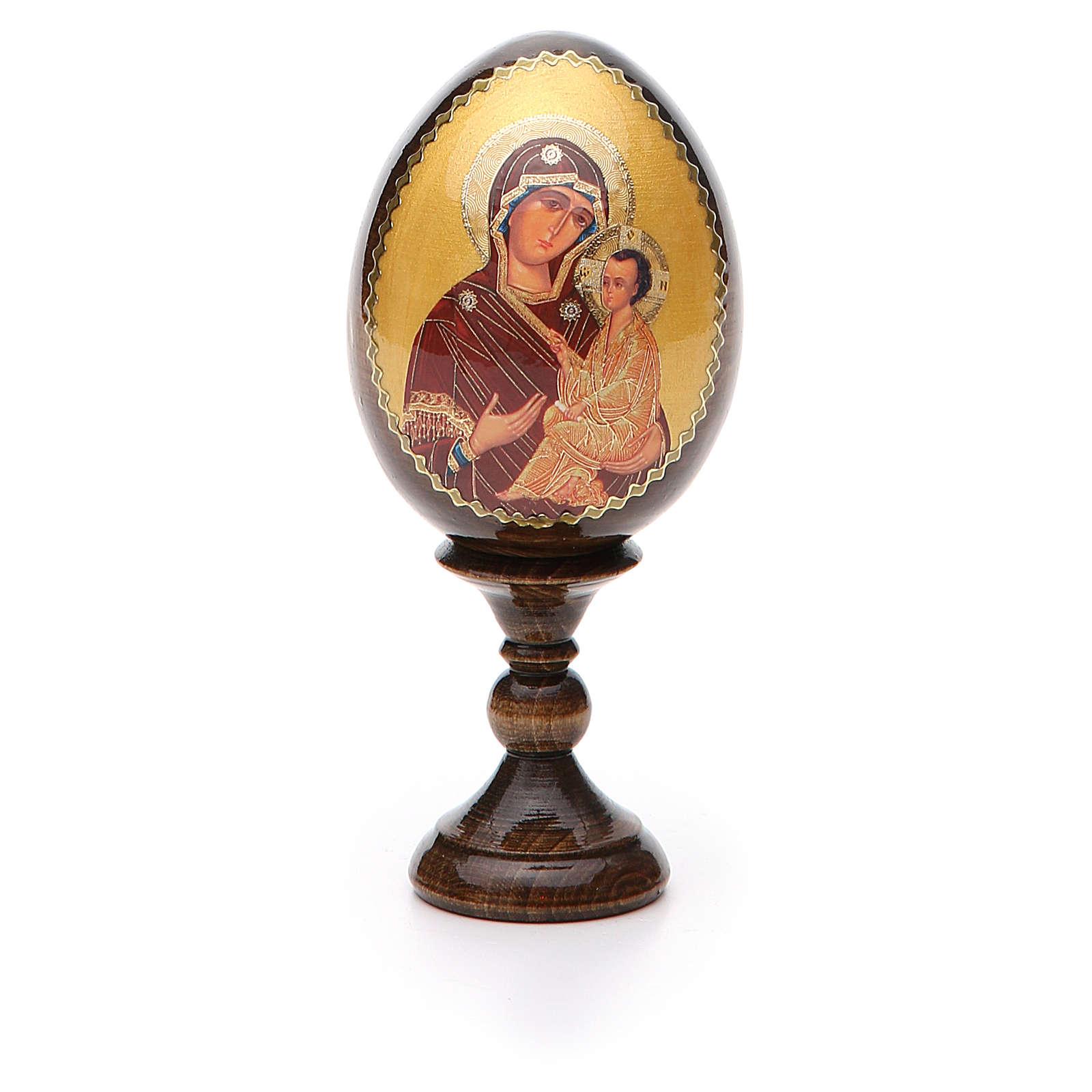 Uovo découpage russo Vergine Tikhvinskaya h tot. 13 cm 4