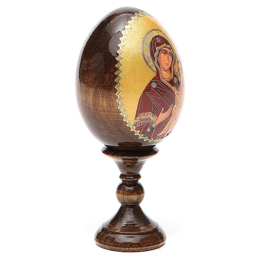 Russian Egg Tikhvinskaya découpage 13cm 4