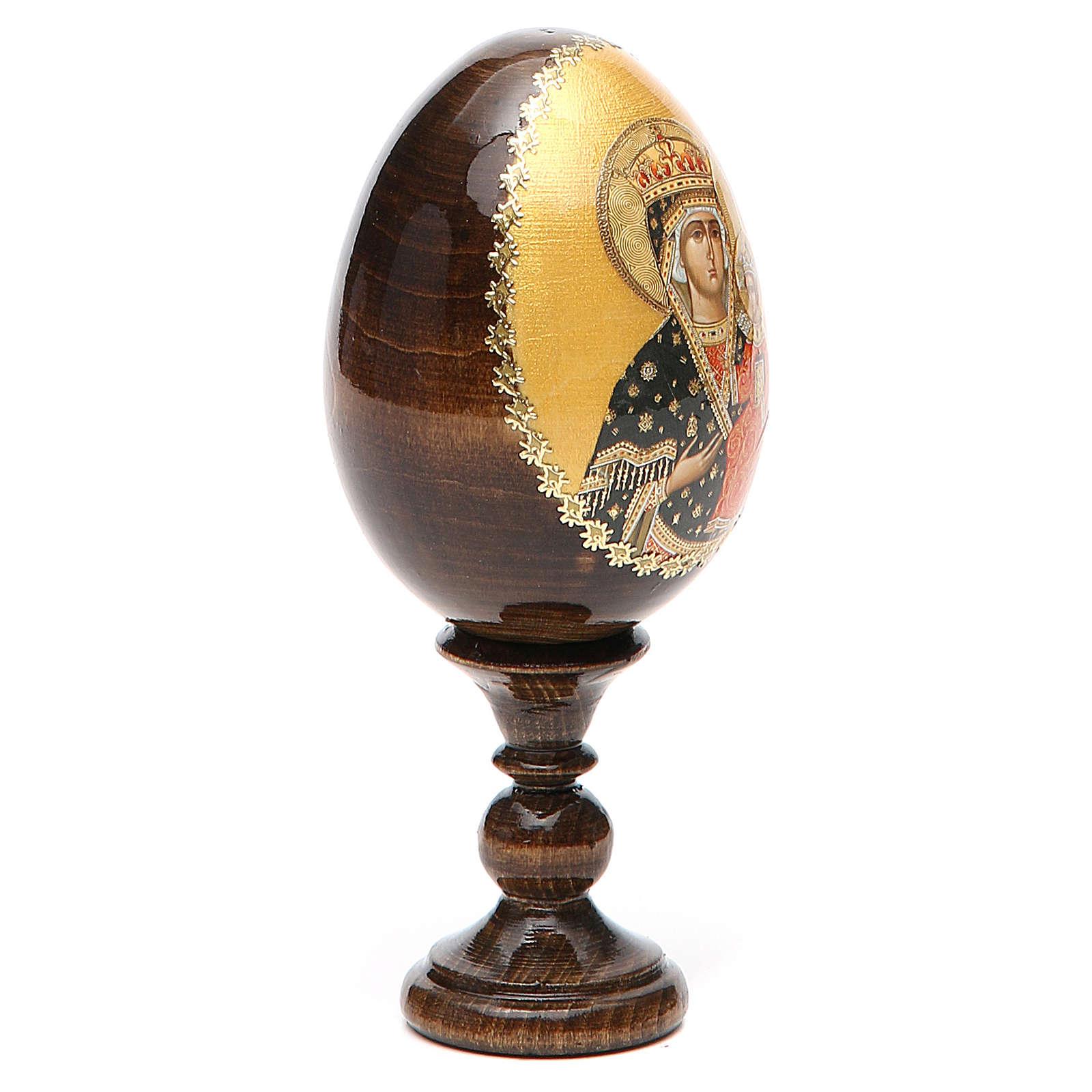 Russian Egg Chenstohovskaya découpage 13cm 4