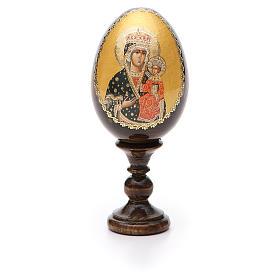 Russian Egg Chenstohovskaya découpage 13cm s5