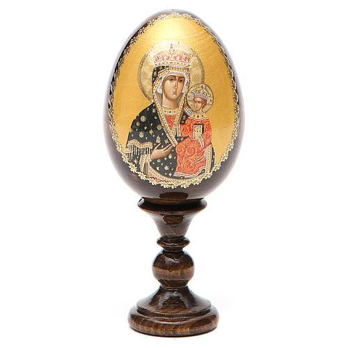 Russian Egg Chenstohovskaya découpage 13cm 8