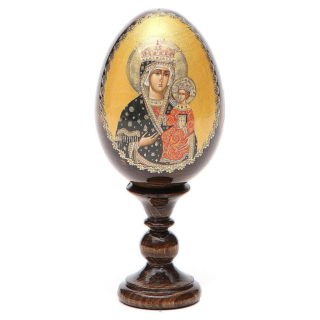 Oeuf Russie peint Chenstohovskaya h tot. 13 cm 4