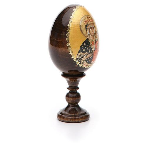Russian Egg Chenstohovskaya découpage 13cm 6