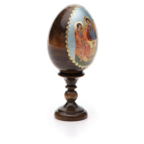 Russian Egg Trinity Andrei Rublev découpage 13cm 8