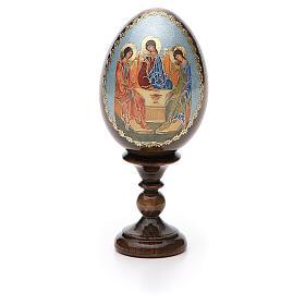 Oeuf Russie peint Trinité Roublev h tot. 13 cm s5