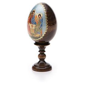 Oeuf Russie peint Trinité Roublev h tot. 13 cm s6