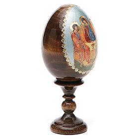 Oeuf Russie peint Trinité Roublev h tot. 13 cm s4