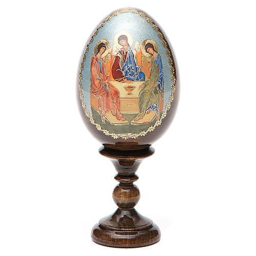 Oeuf Russie peint Trinité Roublev h tot. 13 cm 9