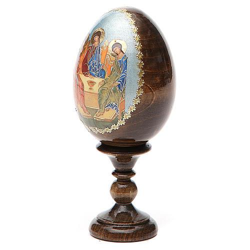 Oeuf Russie peint Trinité Roublev h tot. 13 cm 2