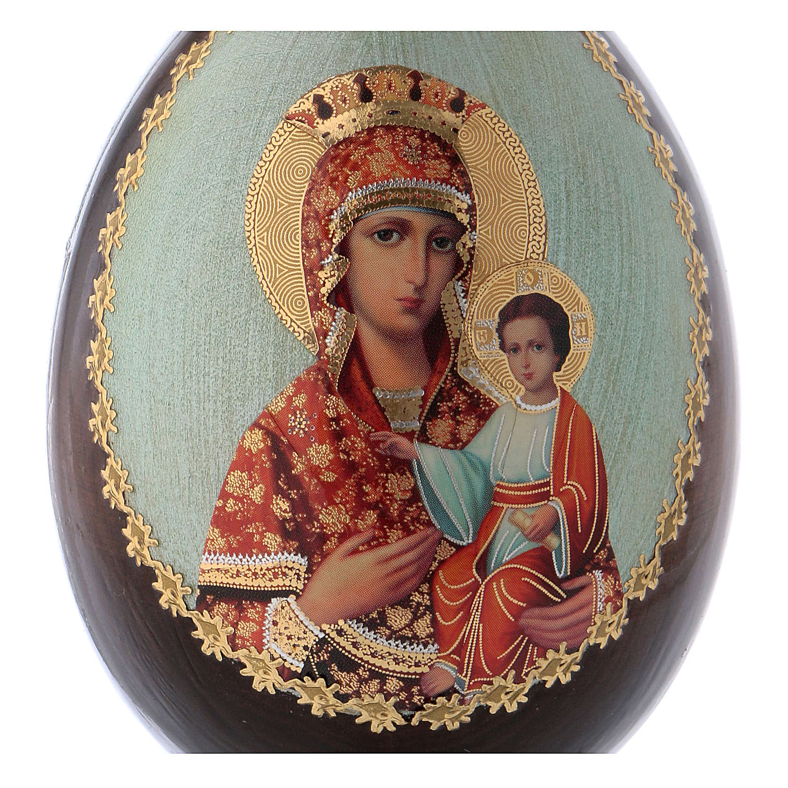 Russian Egg Madonna Self-drawn découpage 13cm 4