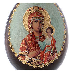 Russian Egg Madonna Self-drawn découpage 13cm s2