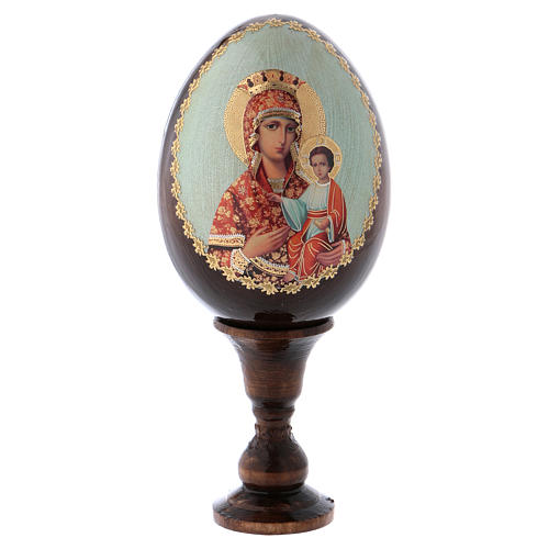 Russian Egg Madonna Self-drawn découpage 13cm 1