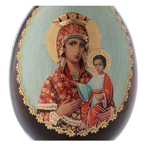 Russian Egg Madonna Self-drawn découpage 13cm 2