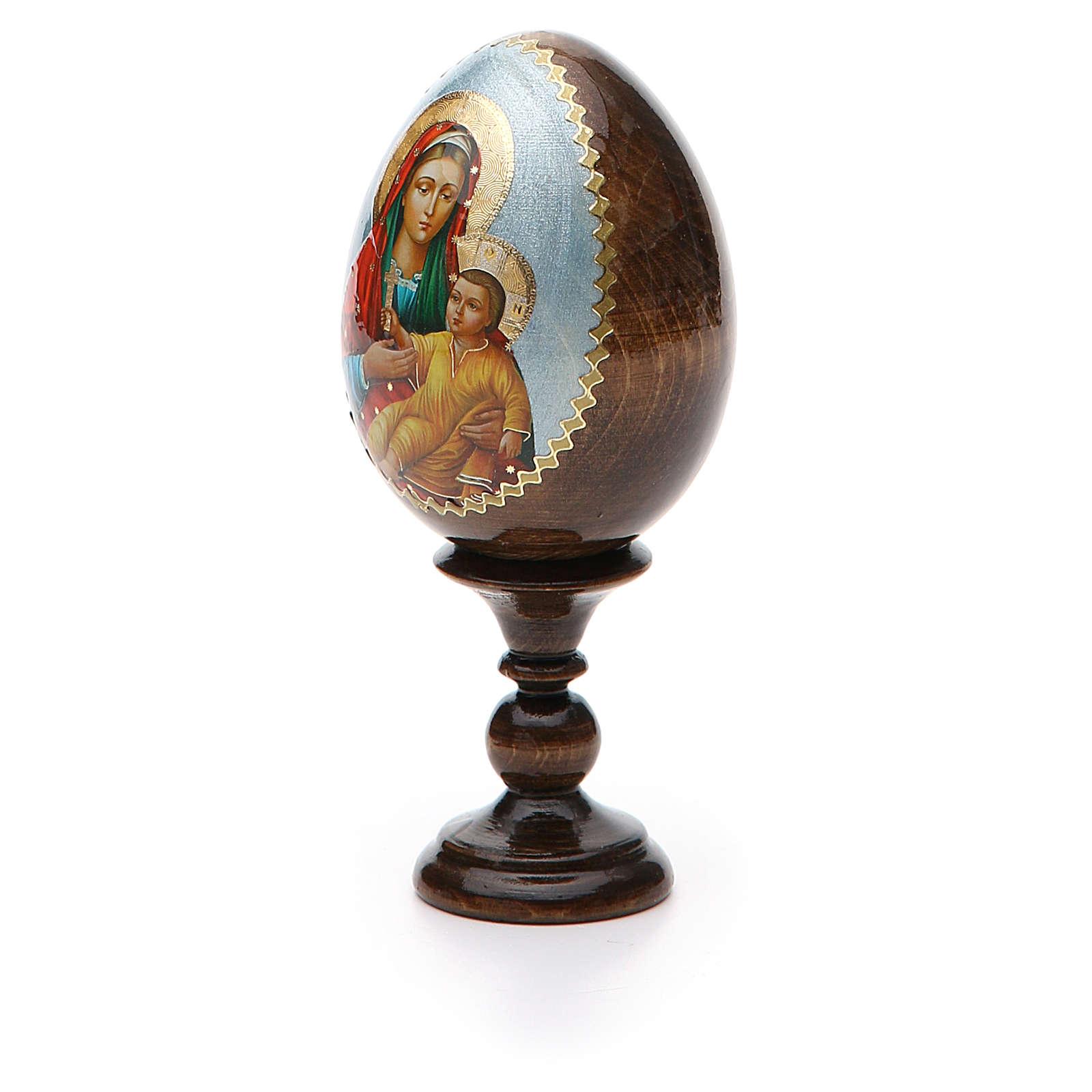 Russian Egg Mother of God Kozelshanskaya découpage 13cm 4