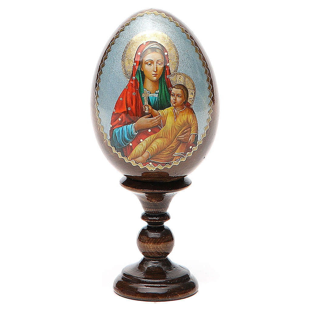 Russian Egg Mother of God Kozelshanskaya découpage 13cm 4