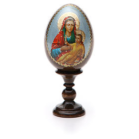 Russian Egg Mother of God Kozelshanskaya découpage 13cm s5