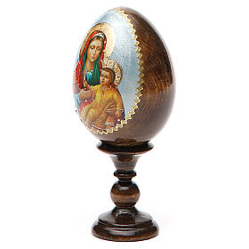 Russian Egg Mother of God Kozelshanskaya découpage 13cm s10