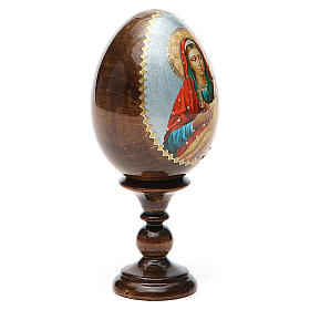 Russian Egg Mother of God Kozelshanskaya découpage 13cm s4
